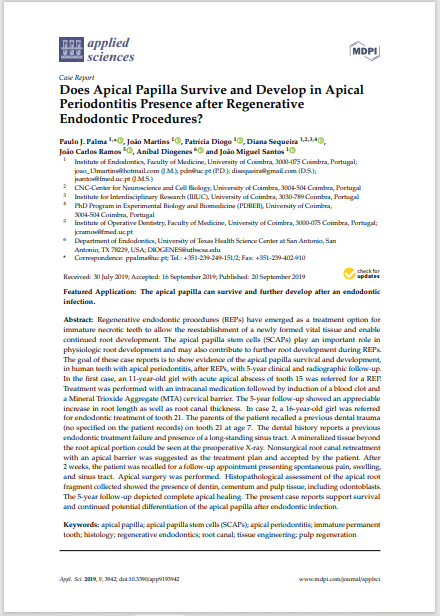 Does Apical Papilla Survive and Develop in Apical Periodontitis Presence after Regenerative Endodontic Procedures?