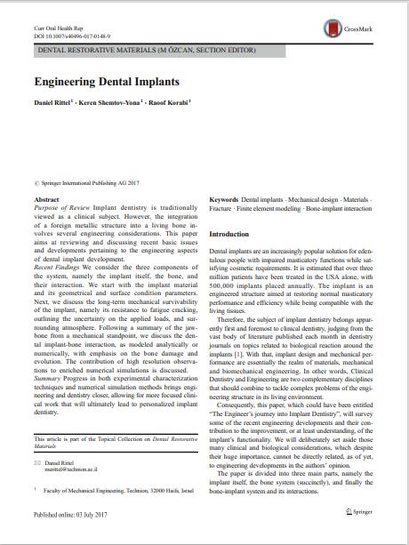 Engineering Dental Implants