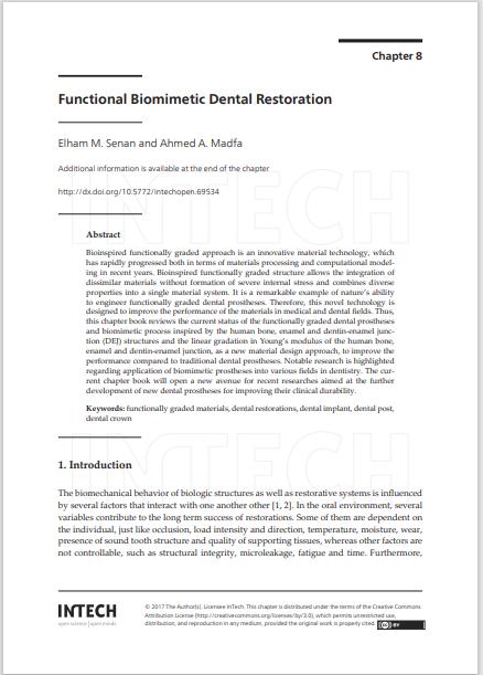 Functional Biomimetic Dental Restoration