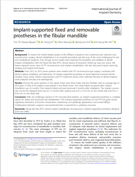 Implant-supported fixed and removable prostheses in the fibular mandible
