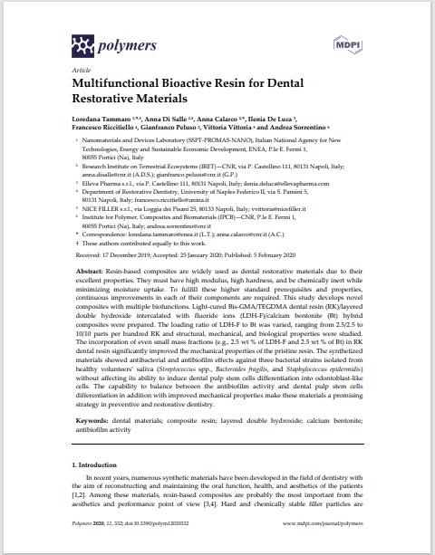 Multifunctional Bioactive Resin for Dental Restorative Materials