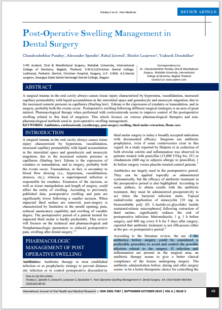Post-Operative Swelling Management in Dental Surgery