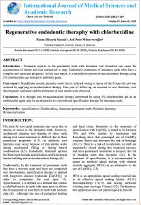 Regenerative Endodontics