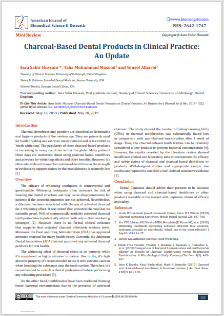 Charcoal-Based Dental Products in Clinical Practice: An Update