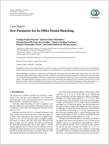 New Parameter for In-Office Dental Bleaching