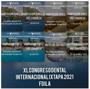 CONGRESO DENTAL INTERNACIONAL FDILA  IXTAPA 2021 @ Hotel Azul Ixtapa |  |  |